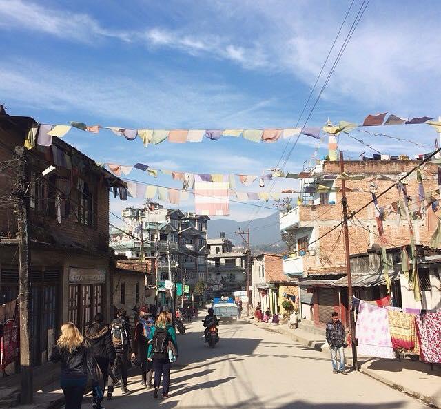 v Nepal village view