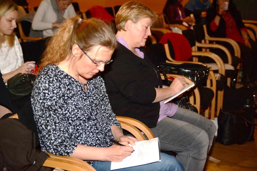 ladies taking notes